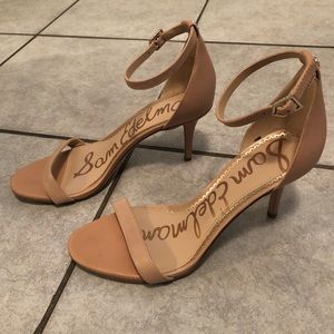 Sam Edelman Patti Nude Leather Heels 7